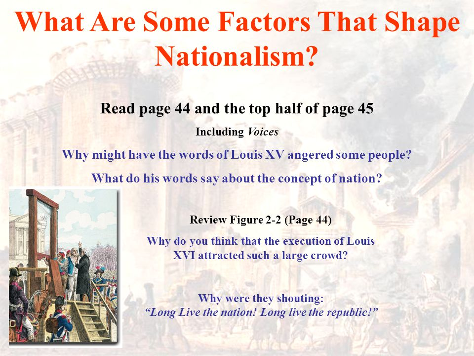 What Are Some Factors That Shape Nationalism