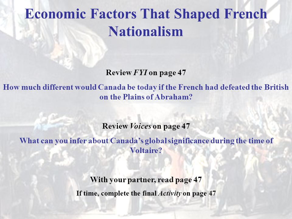 Economic Factors That Shaped French Nationalism