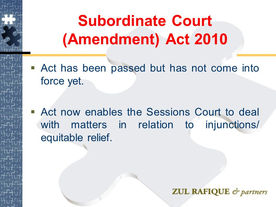 Subordinate Court (Amendment) Act 2010