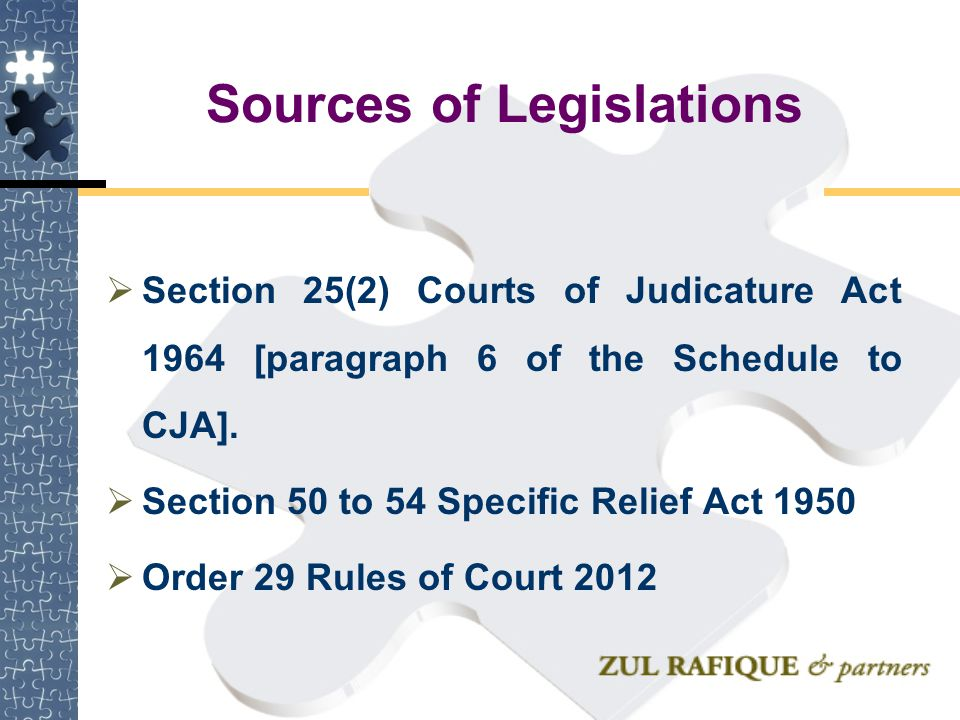 Sources of Legislations