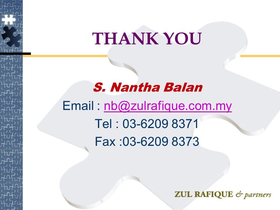 THANK YOU S. Nantha Balan