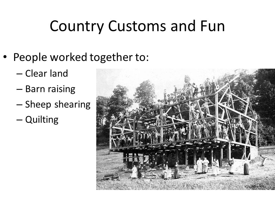 Country Customs and Fun