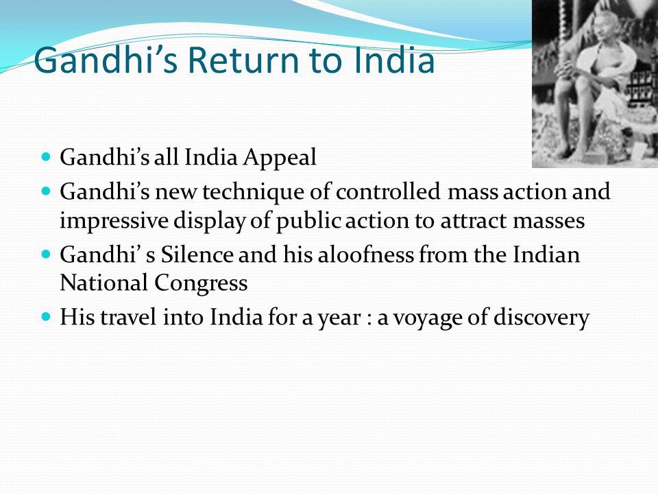 Gandhi's Return to India