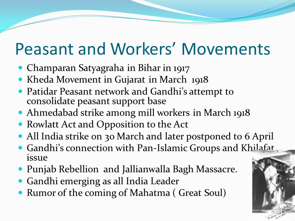 Peasant and Workers' Movements