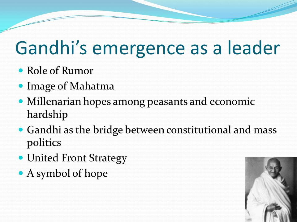 Gandhi's emergence as a leader