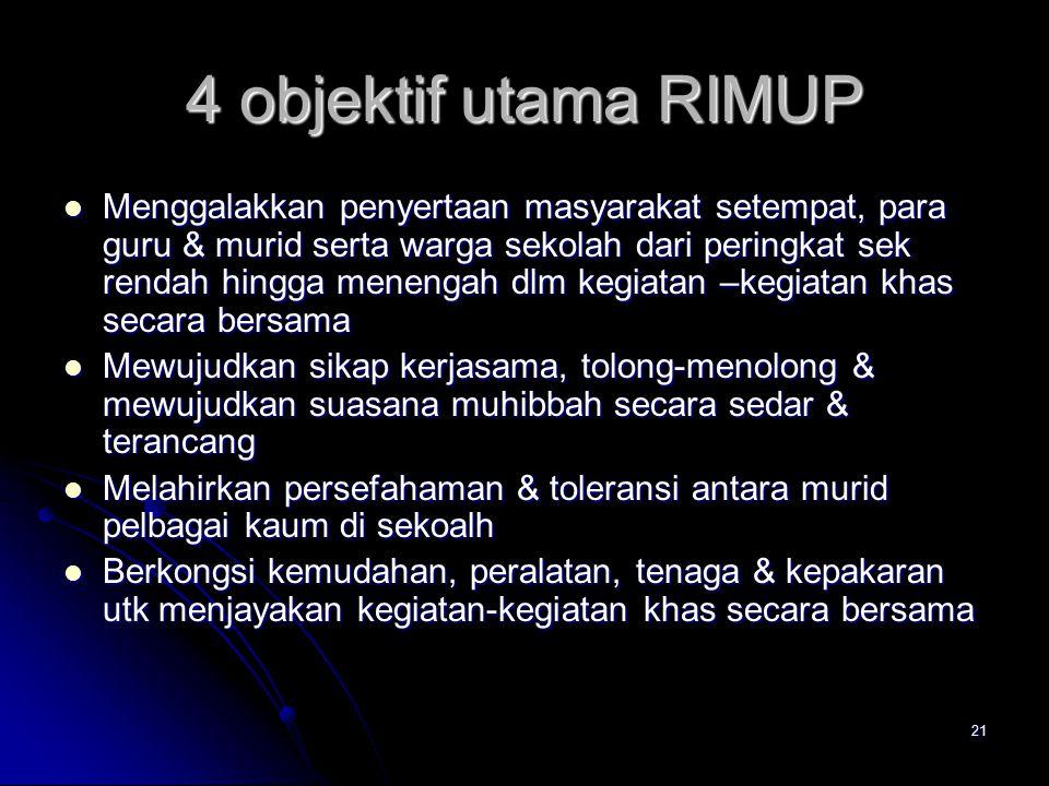 4 objektif utama RIMUP