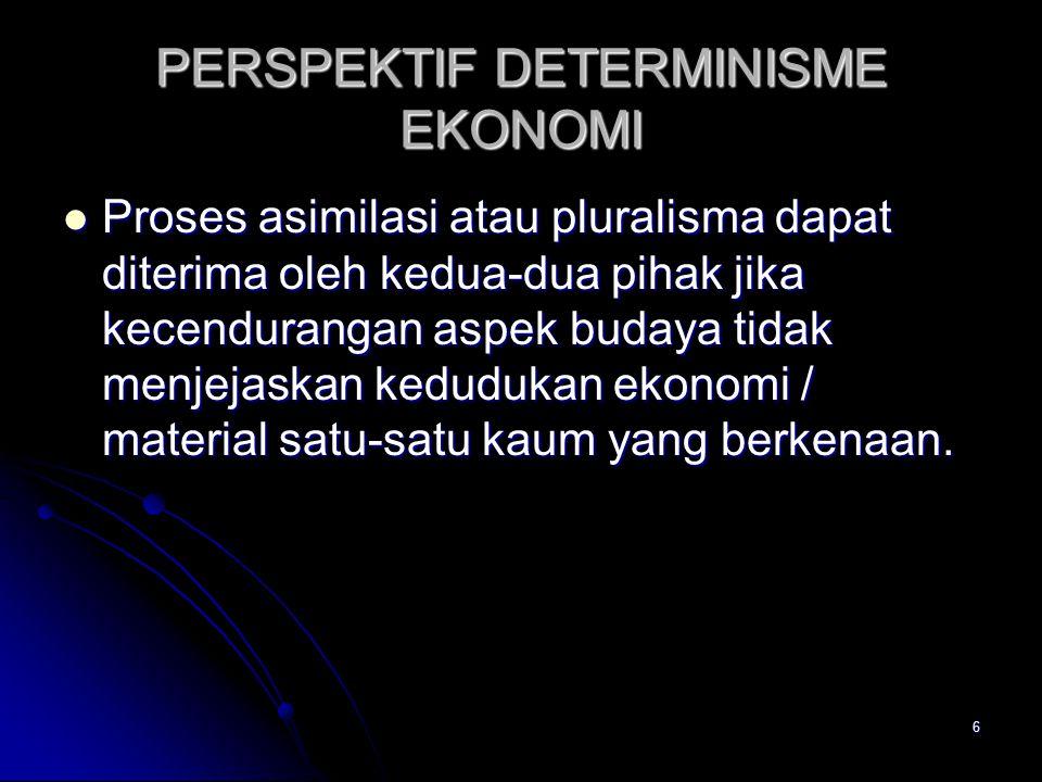 PERSPEKTIF DETERMINISME EKONOMI