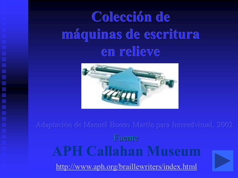 Colección de máquinas de escritura en relieve