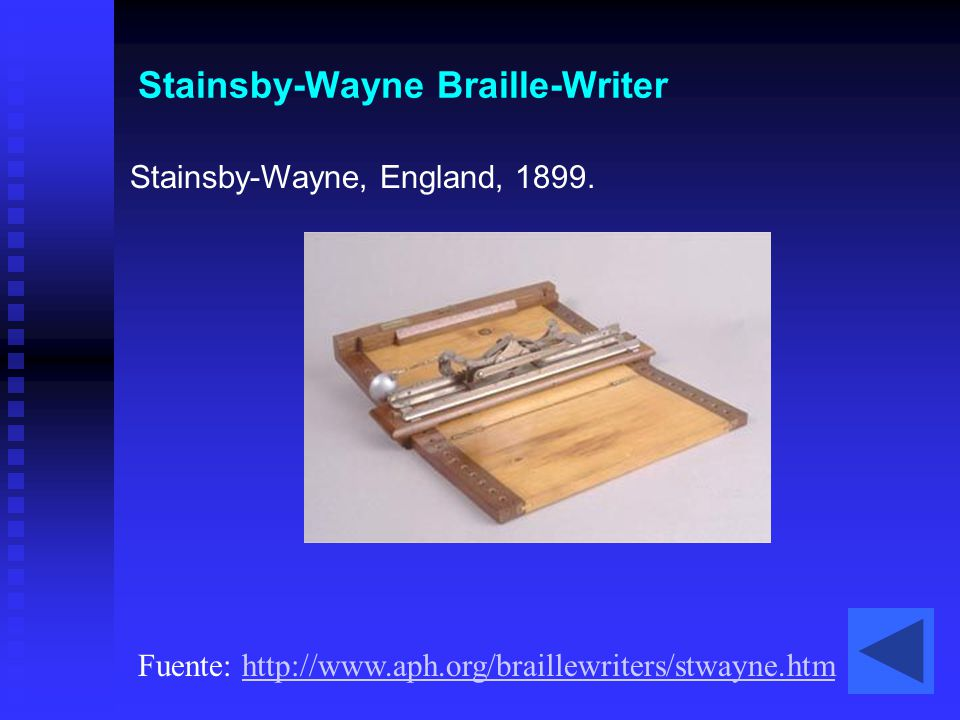 Stainsby-Wayne Braille-Writer