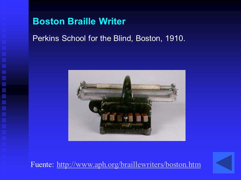 Boston Braille Writer Perkins School for the Blind, Boston, 1910.