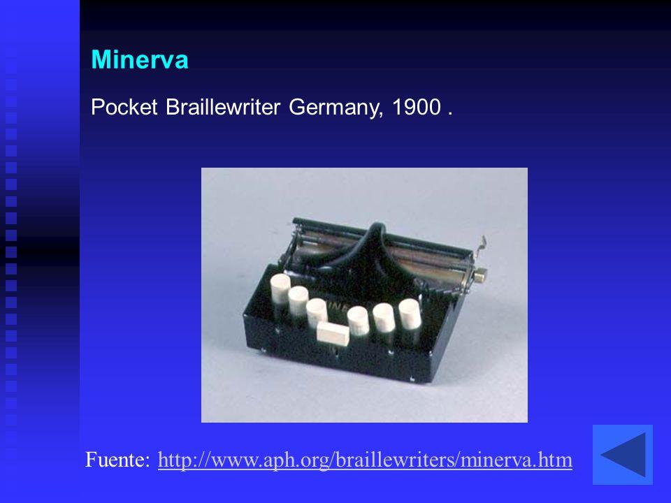 Minerva Pocket Braillewriter Germany, 1900 .