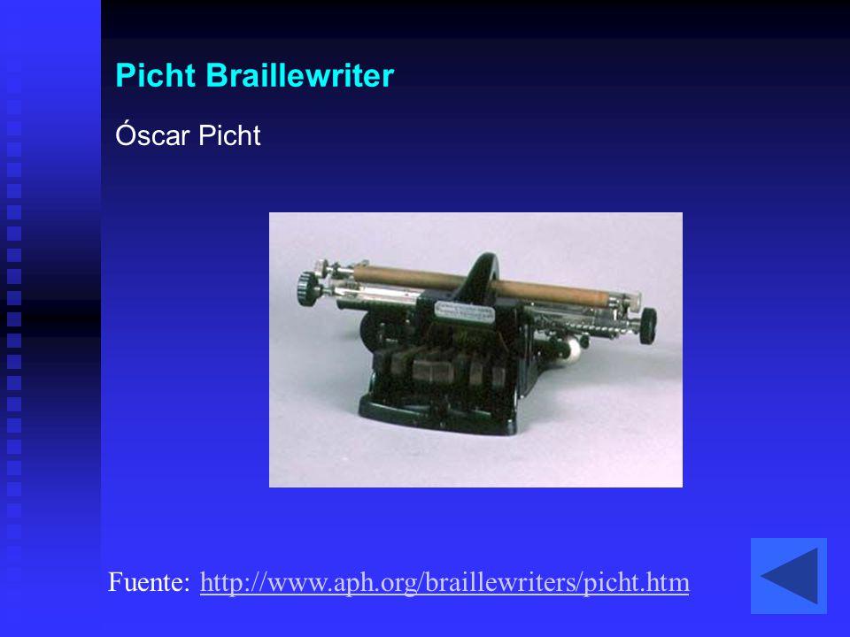 Picht Braillewriter Óscar Picht