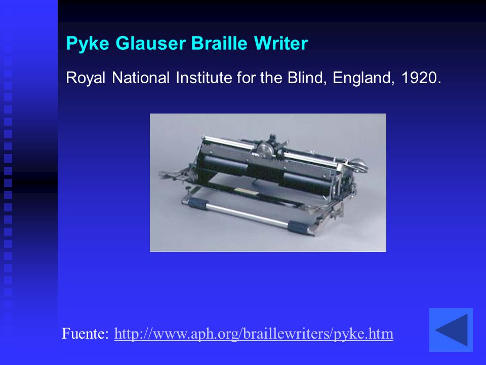 Pyke Glauser Braille Writer
