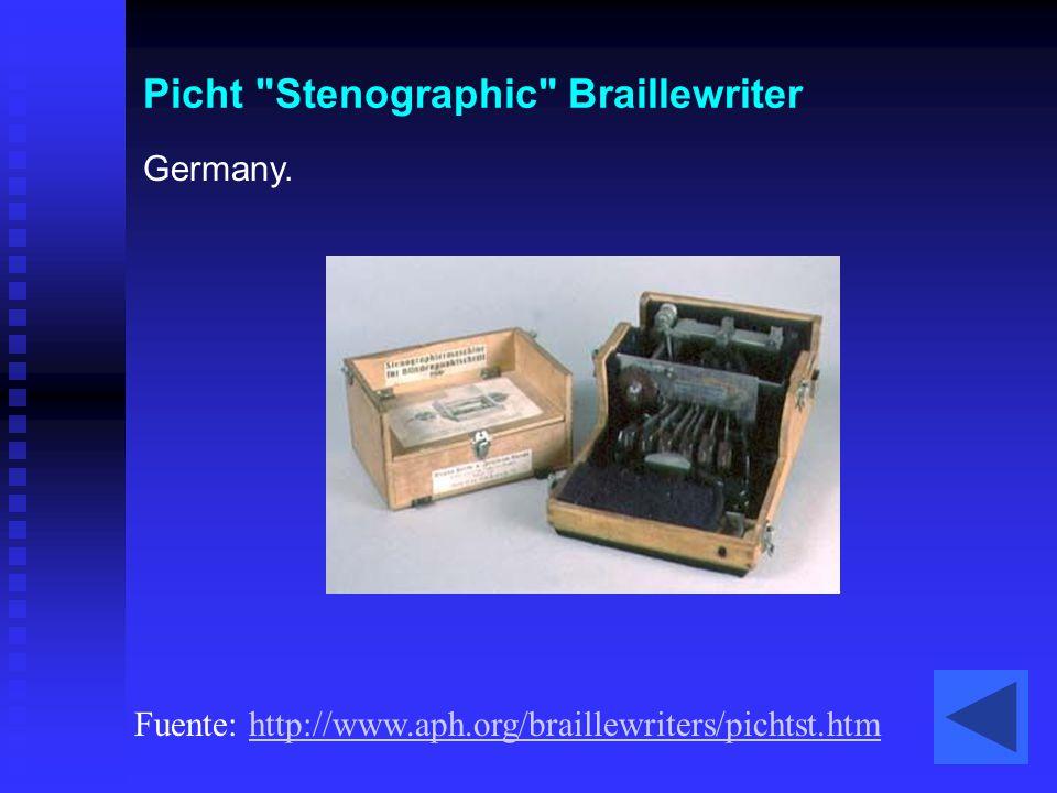 Picht Stenographic Braillewriter