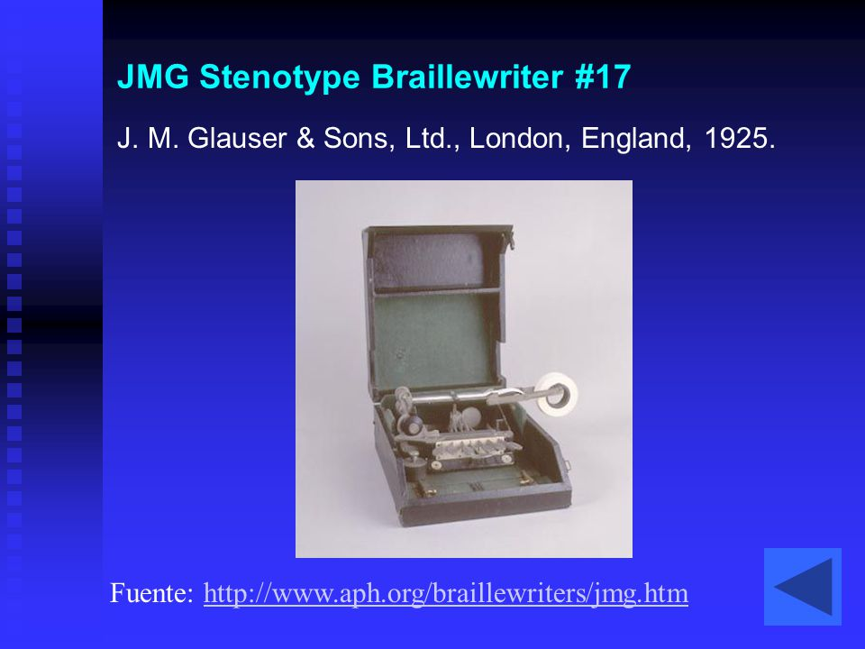 JMG Stenotype Braillewriter #17