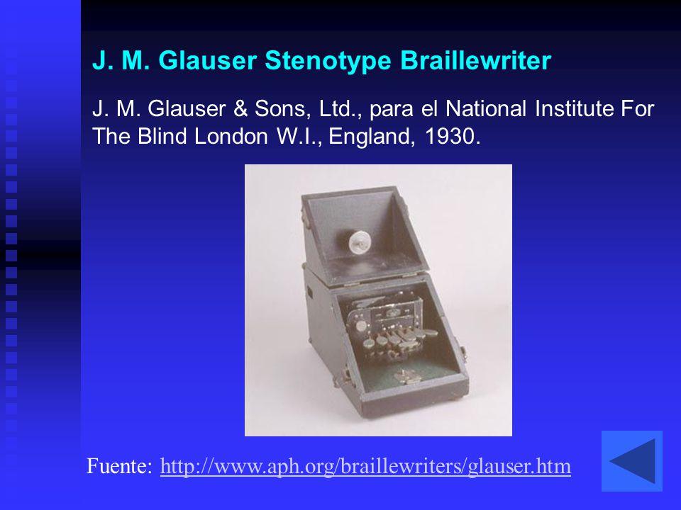 J. M. Glauser Stenotype Braillewriter