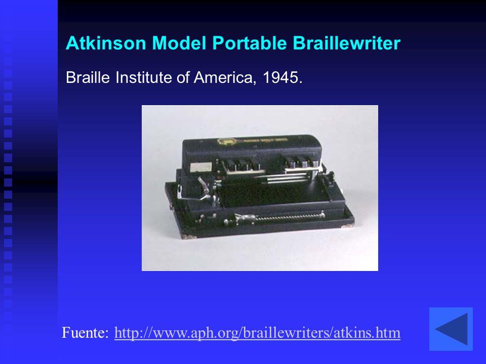 Atkinson Model Portable Braillewriter