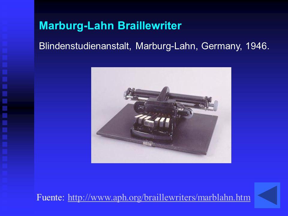 Marburg-Lahn Braillewriter
