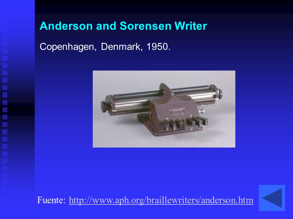Anderson and Sorensen Writer