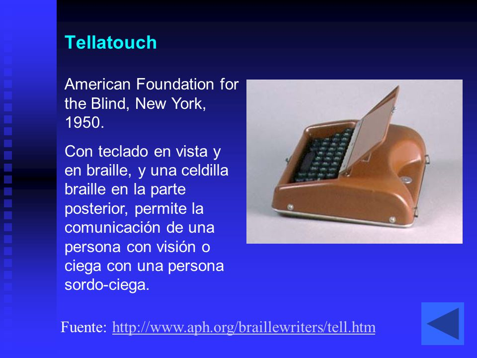 Tellatouch American Foundation for the Blind, New York, 1950.