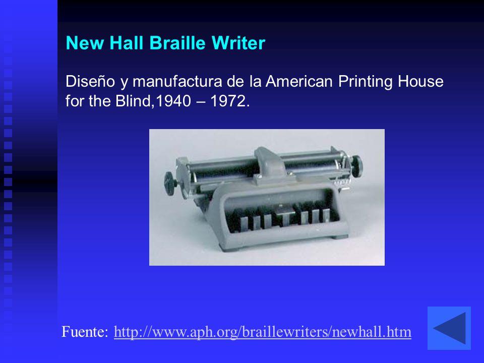 New Hall Braille Writer