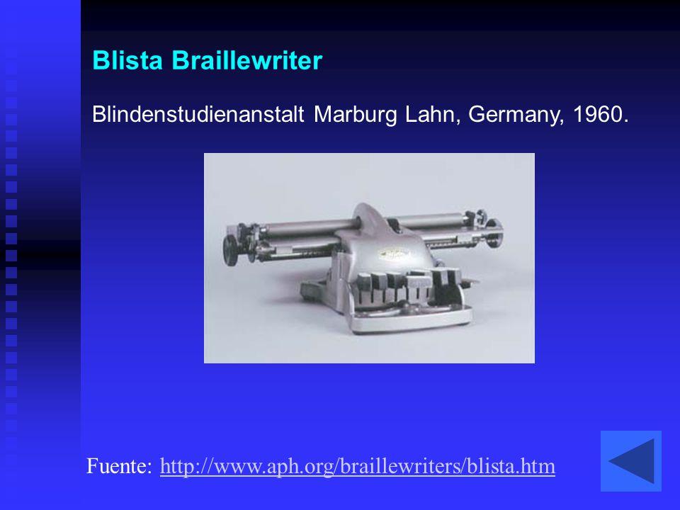 Blista Braillewriter Blindenstudienanstalt Marburg Lahn, Germany, 1960.