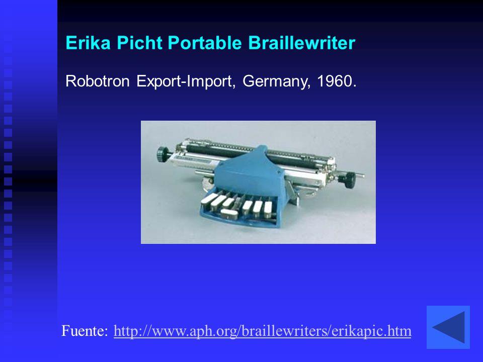 Erika Picht Portable Braillewriter