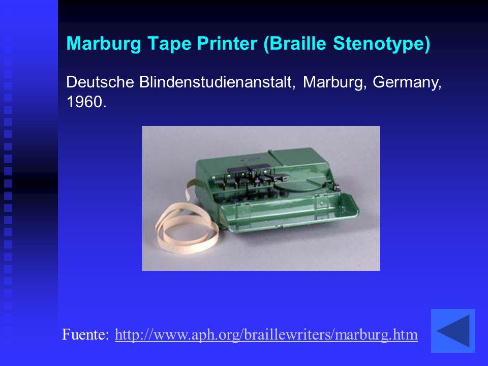 Marburg Tape Printer (Braille Stenotype)