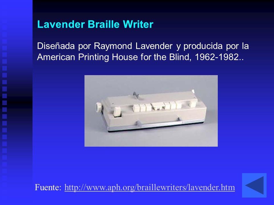 Lavender Braille Writer