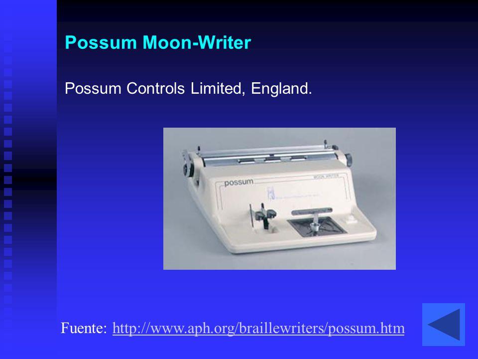Possum Moon-Writer Possum Controls Limited, England.