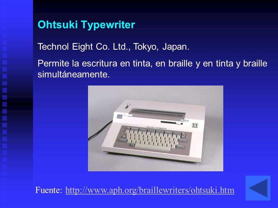 Ohtsuki Typewriter Technol Eight Co. Ltd., Tokyo, Japan.