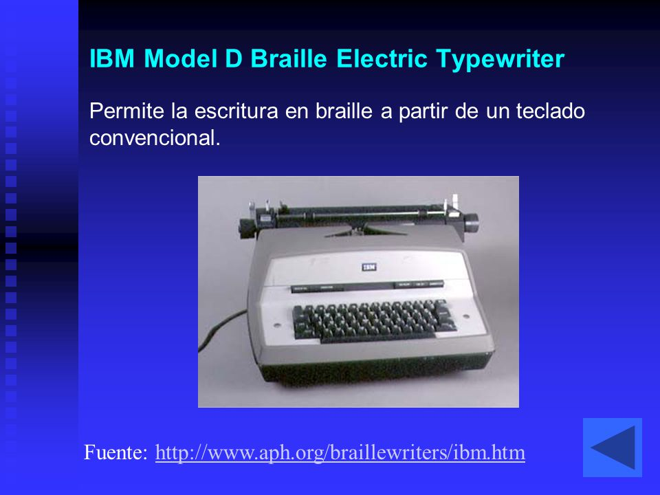 IBM Model D Braille Electric Typewriter