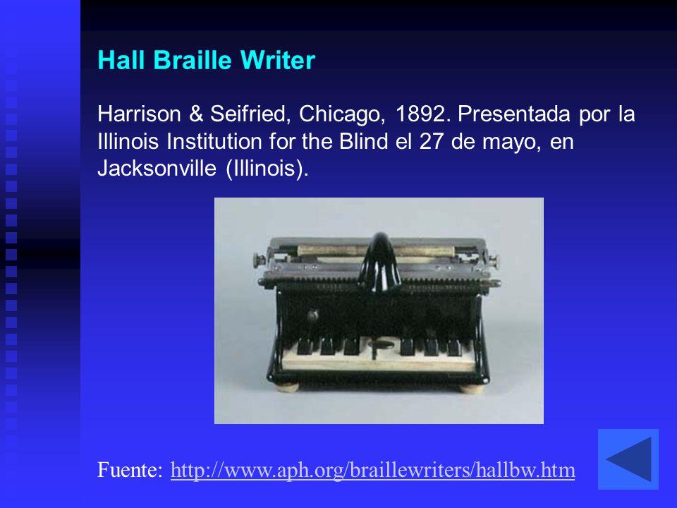 Hall Braille Writer