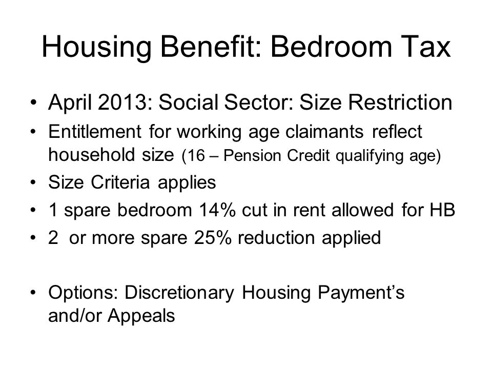 Housing Benefit: Bedroom Tax