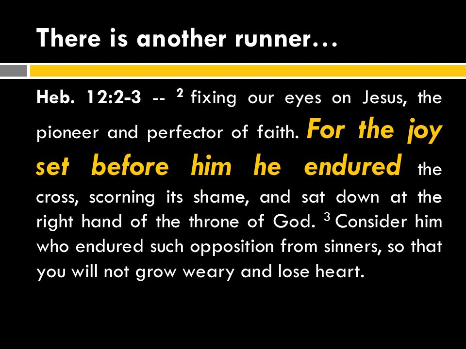 There is another runner…