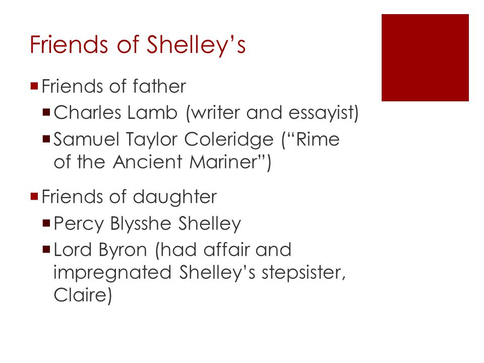 Friends of Shelley's Friends of father