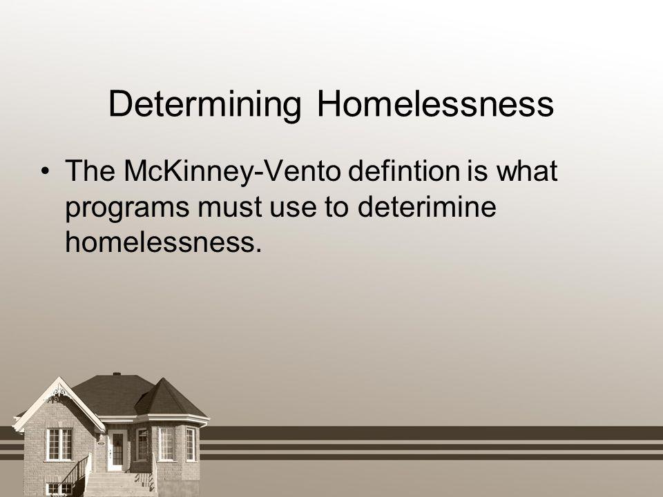 Determining Homelessness