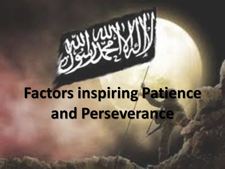 Factors inspiring Patience and Perseverance