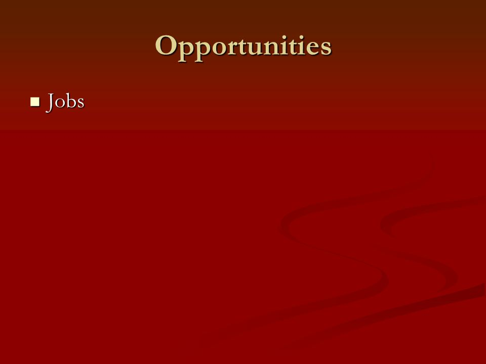 Opportunities Jobs