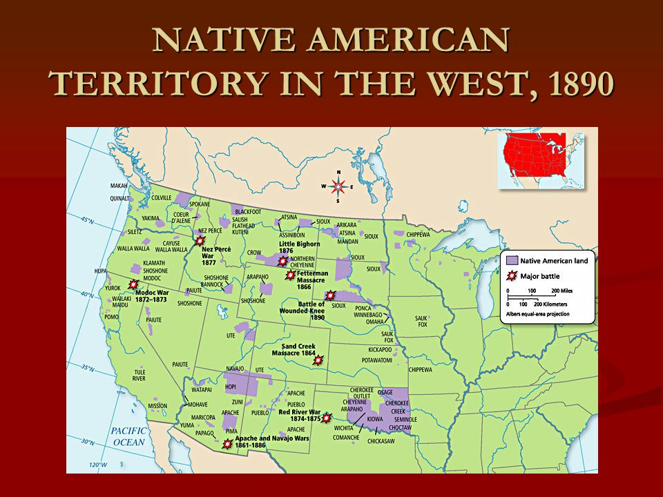 NATIVE AMERICAN TERRITORY IN THE WEST, 1890