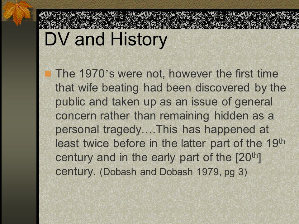 DV and History