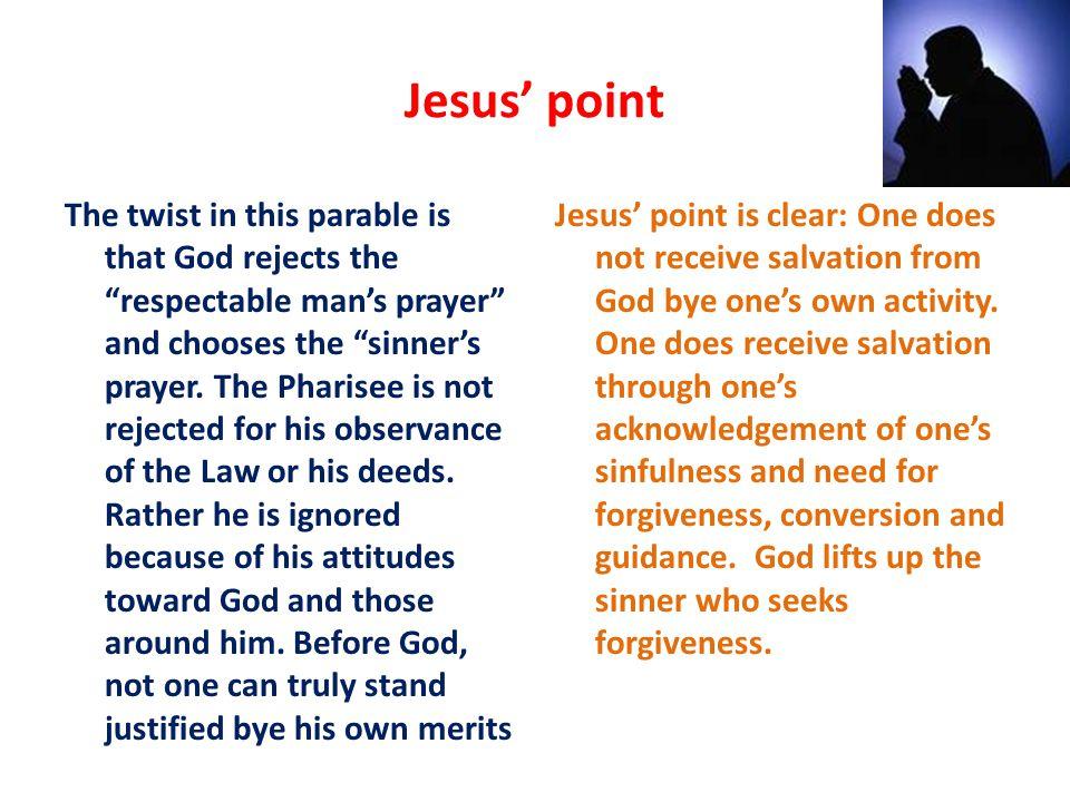 Jesus' point