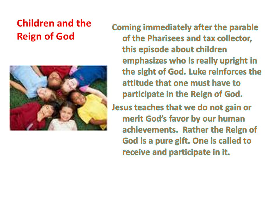 Children and the Reign of God