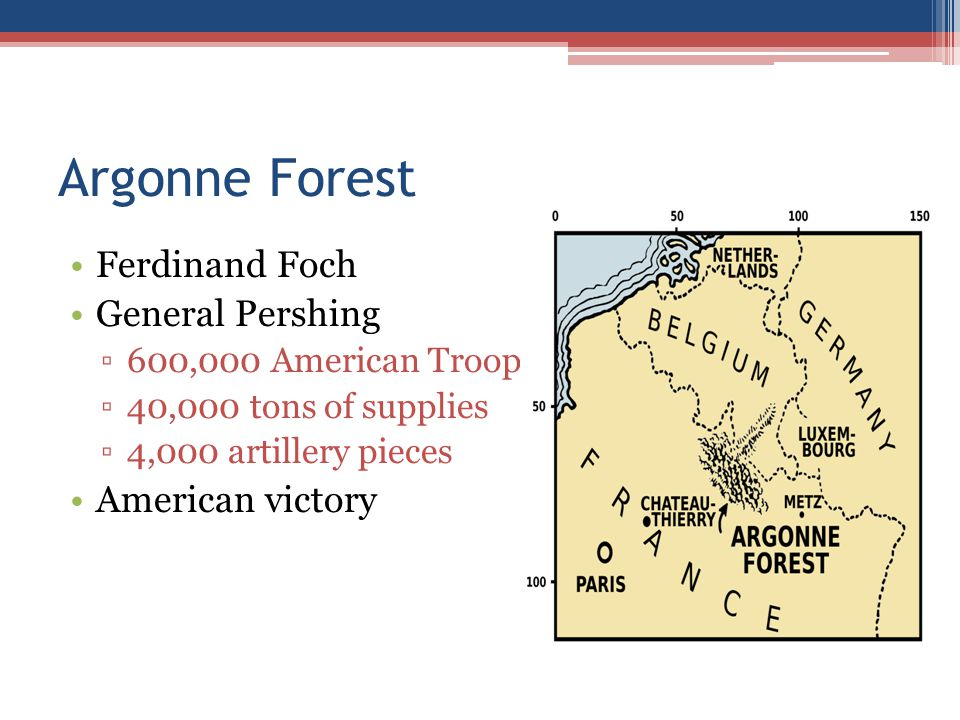Argonne Forest Ferdinand Foch General Pershing American victory