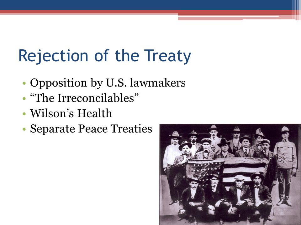 Rejection of the Treaty