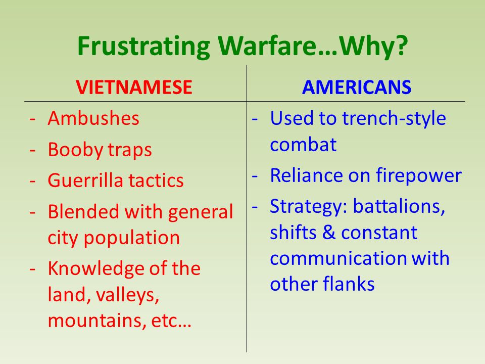 Frustrating Warfare…Why