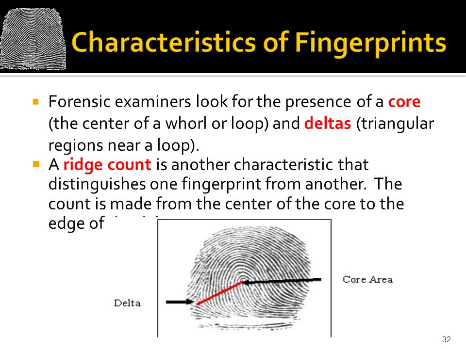 Characteristics of Fingerprints