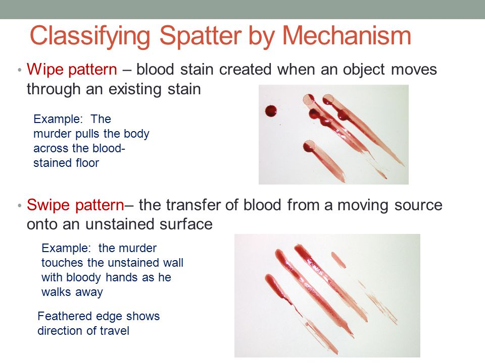 Classifying Spatter by Mechanism