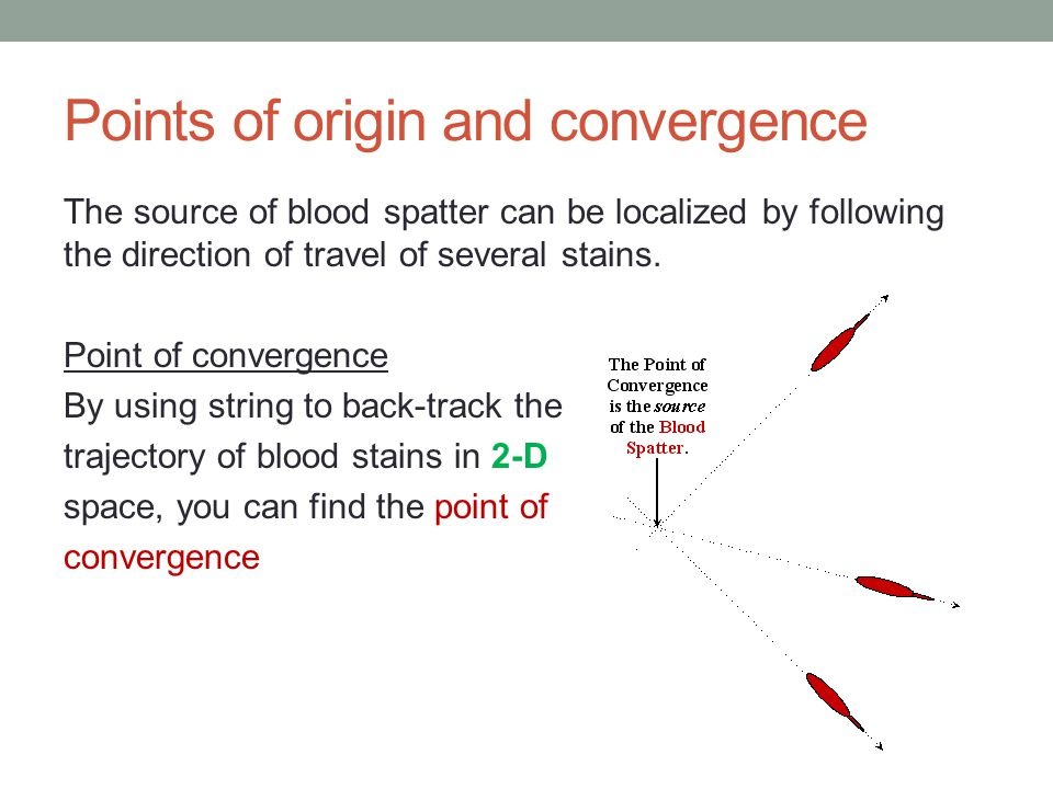 Points of origin and convergence