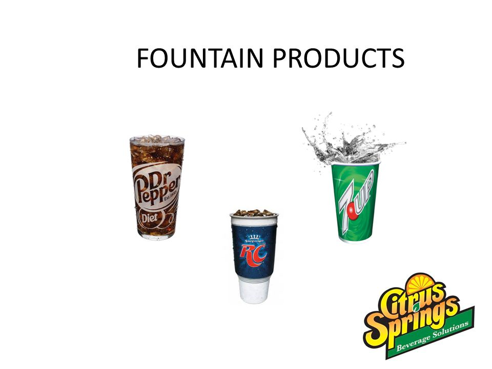 FOUNTAIN PRODUCTS